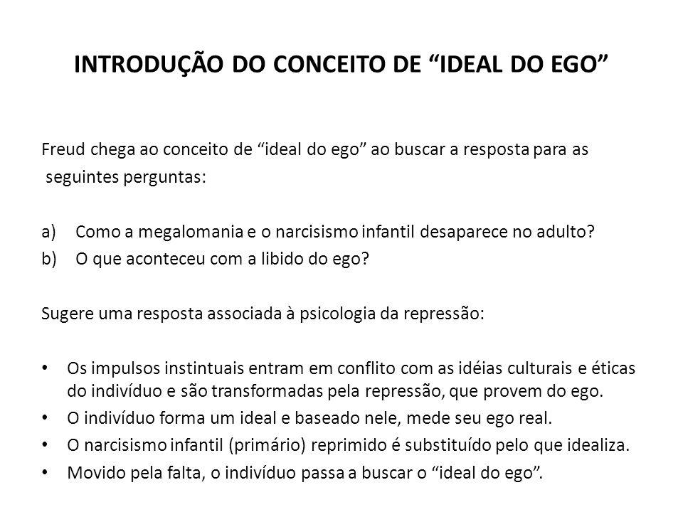 INTRODUÇÃO DO CONCEITO DE IDEAL DO EGO