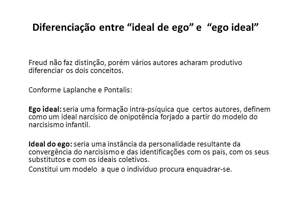 Diferenciação entre ideal de ego e ego ideal