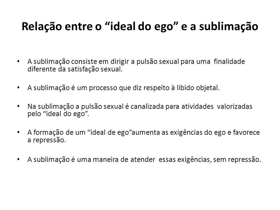 Relação entre o ideal do ego e a sublimação