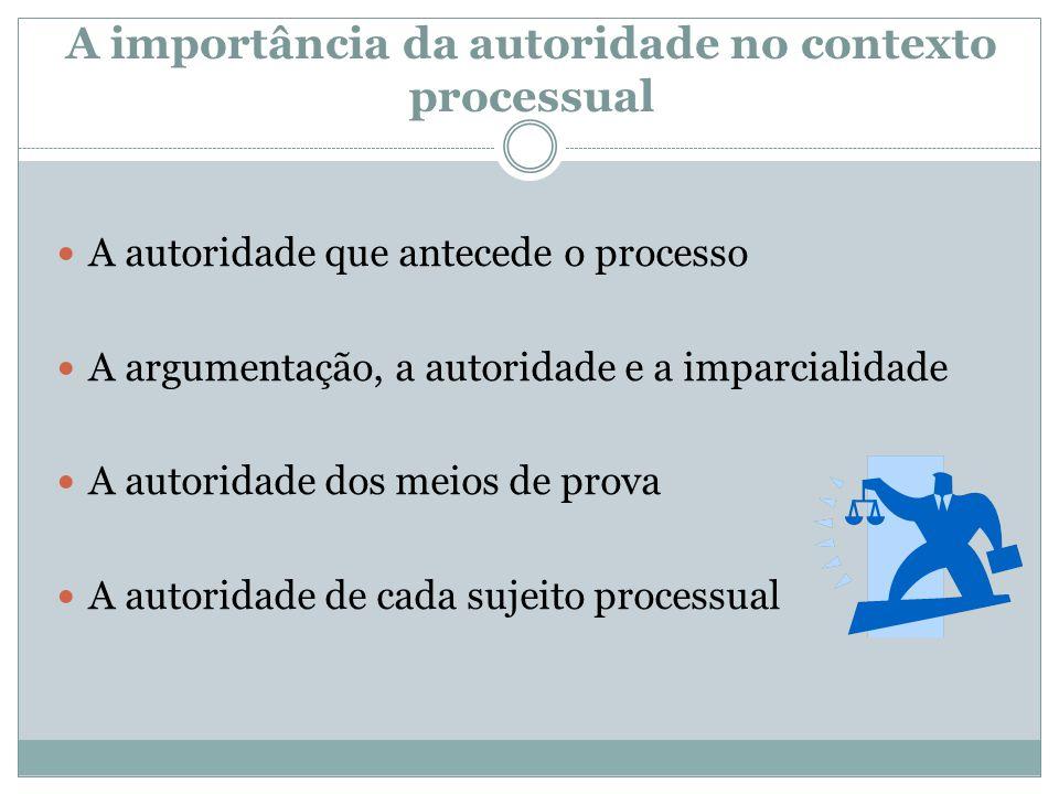A importância da autoridade no contexto processual