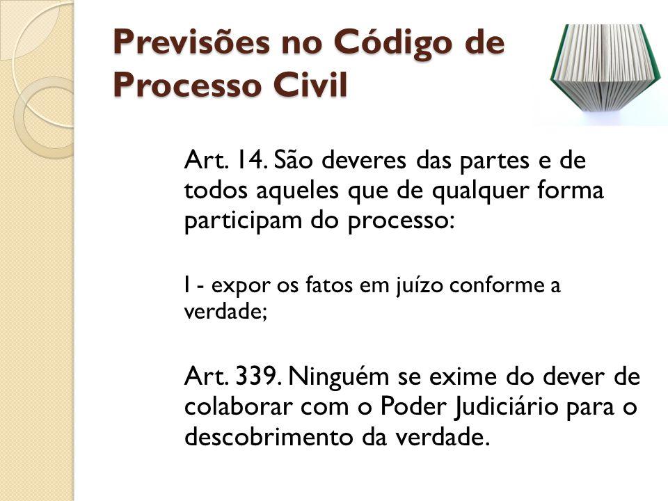 Previsões no Código de Processo Civil
