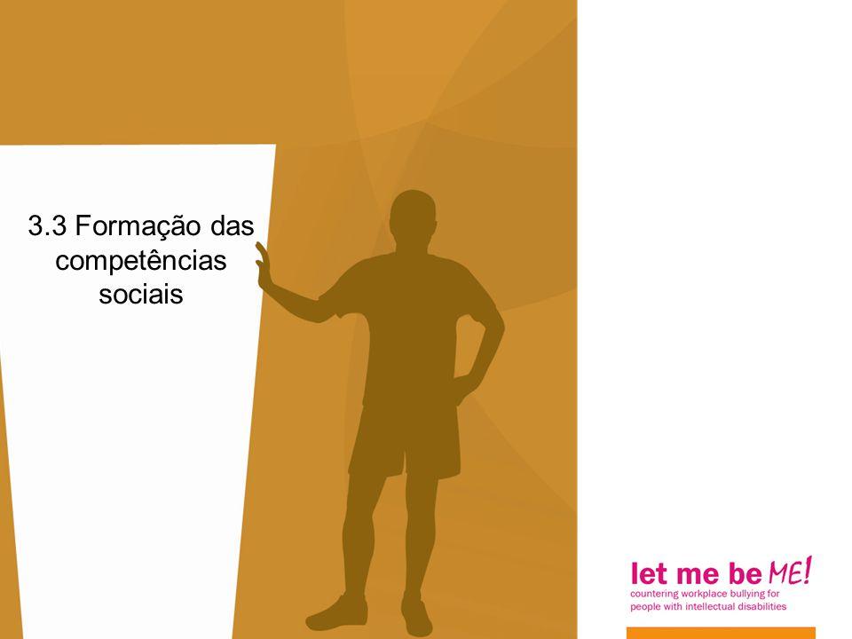 3.3 Formação das competências sociais