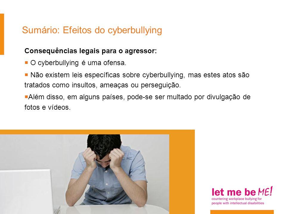 Sumário: Efeitos do cyberbullying