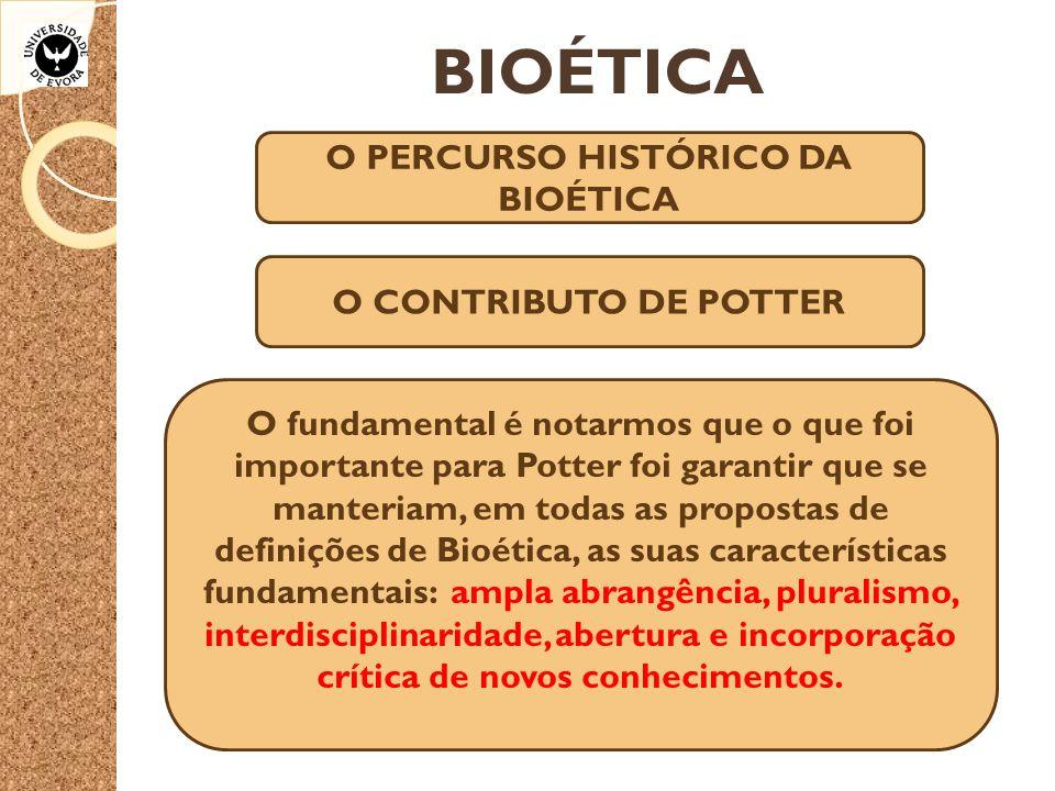 O PERCURSO HISTÓRICO DA BIOÉTICA