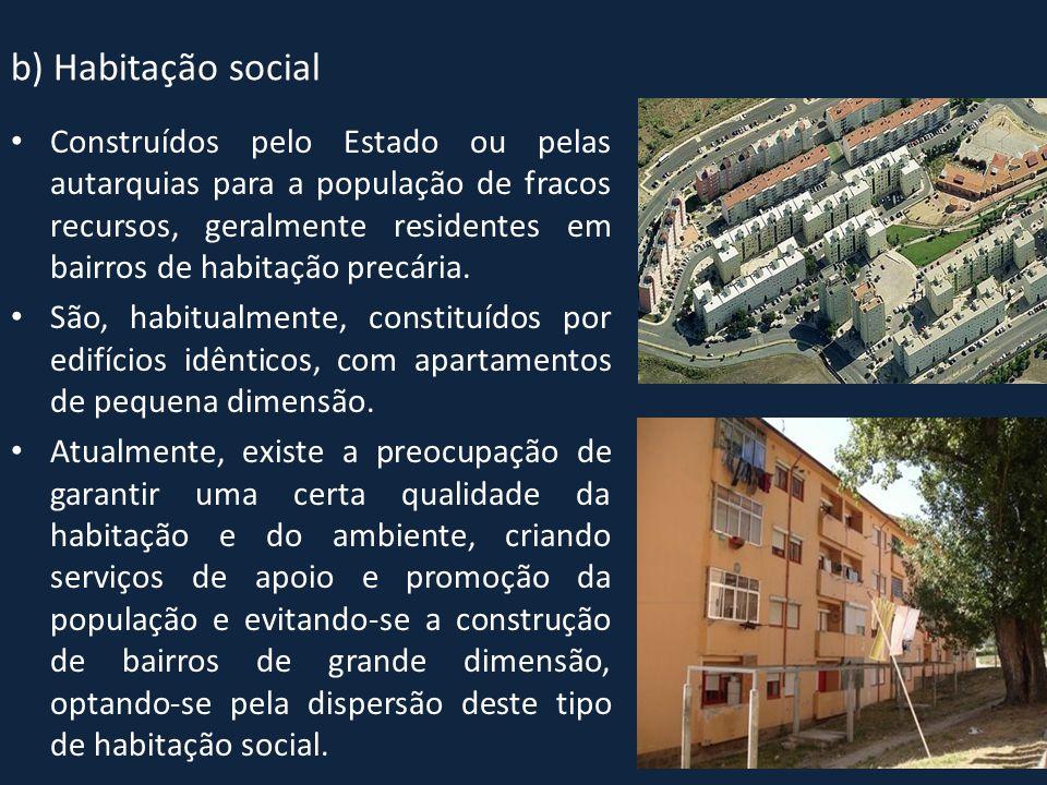 b) Habitação social