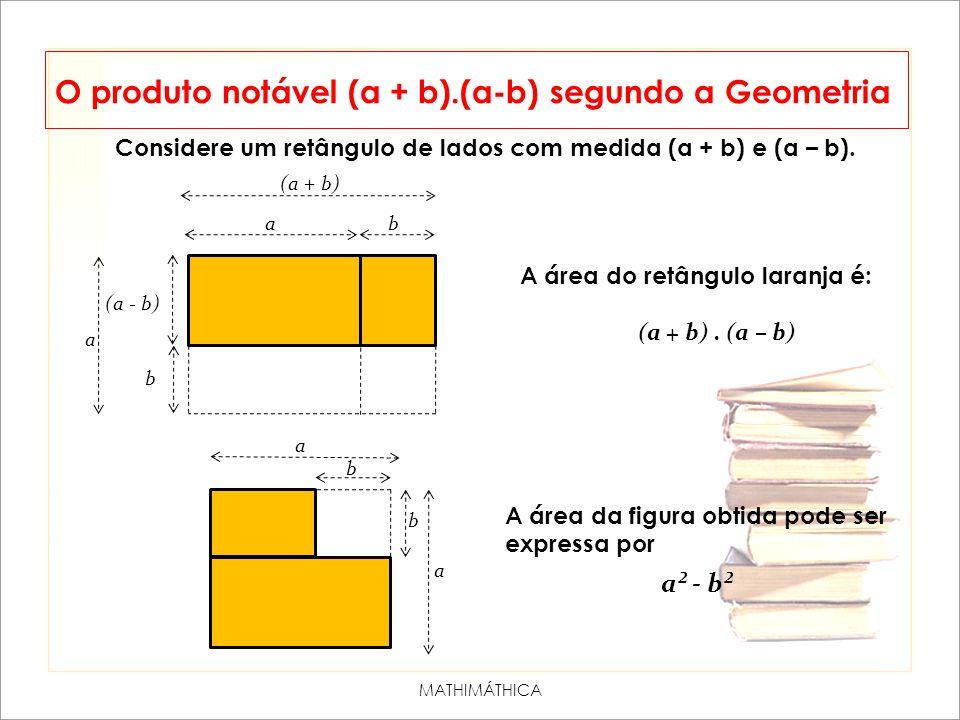 O produto notável (a + b).(a-b) segundo a Geometria