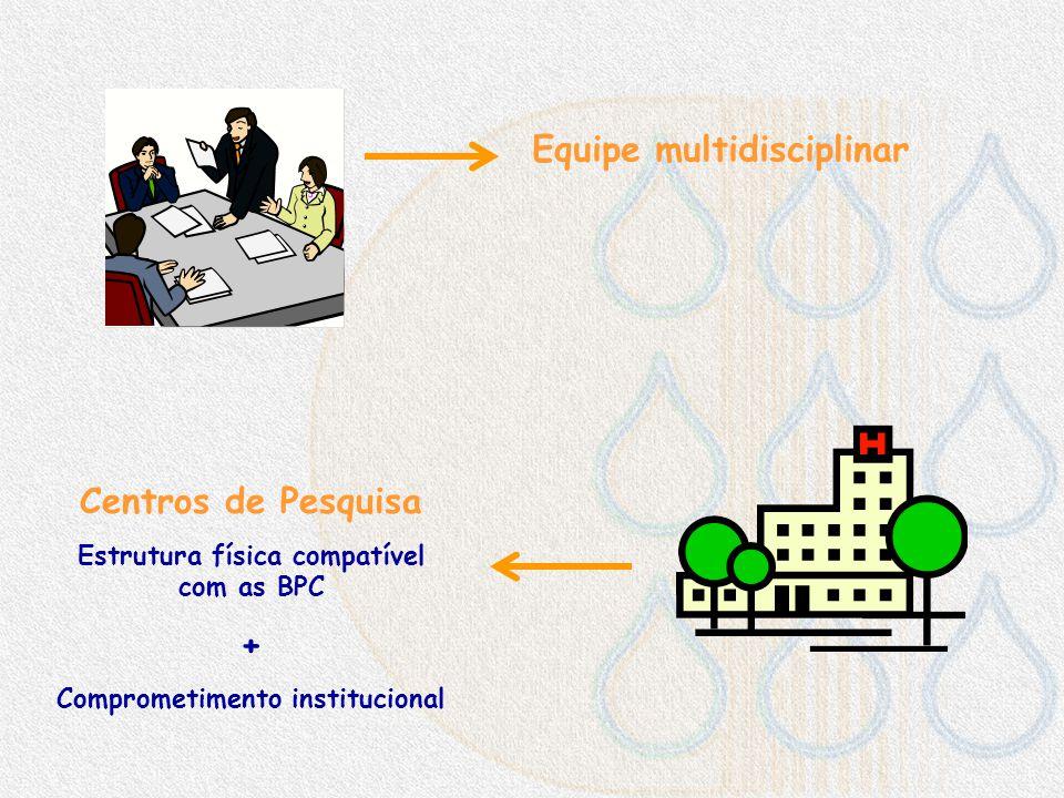 Equipe multidisciplinar Centros de Pesquisa +