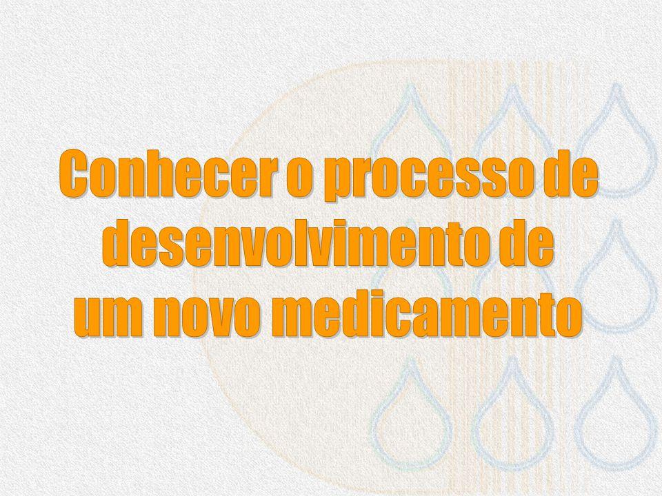 Conhecer o processo de desenvolvimento de um novo medicamento