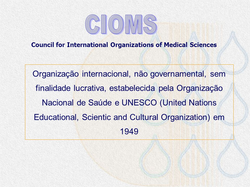 Council for International Organizations of Medical Sciences