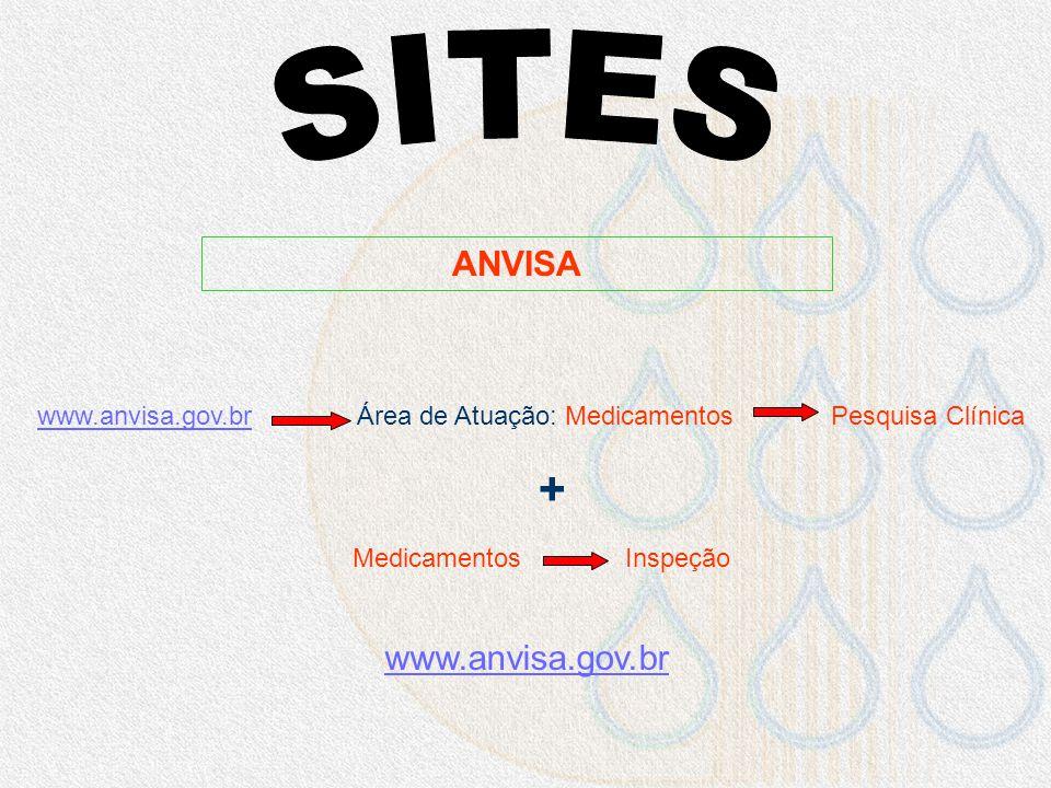 SITES + ANVISA www.anvisa.gov.br