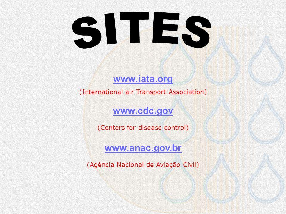 SITES www.iata.org www.cdc.gov www.anac.gov.br