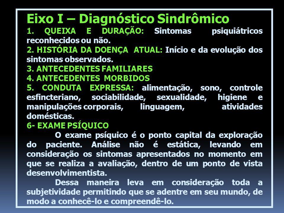 Eixo I – Diagnóstico Sindrômico