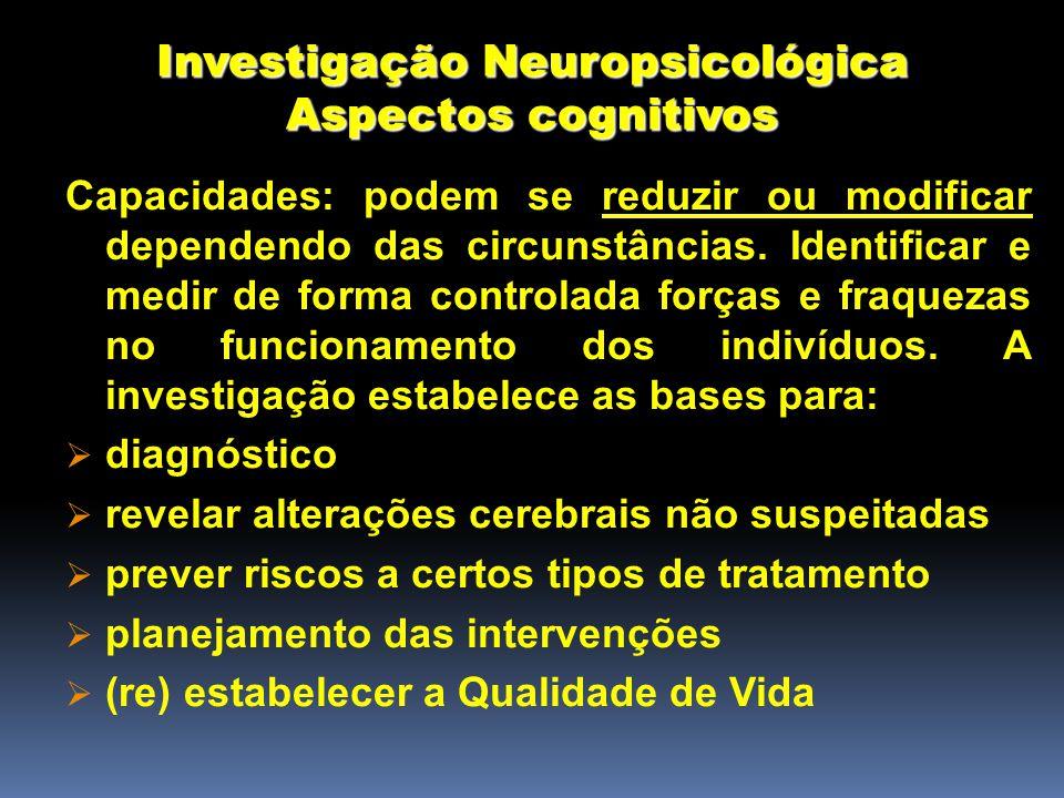Investigação Neuropsicológica