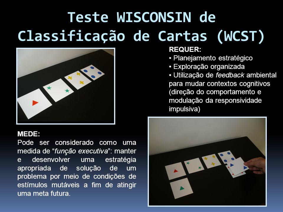 Teste WISCONSIN de Classificação de Cartas (WCST)