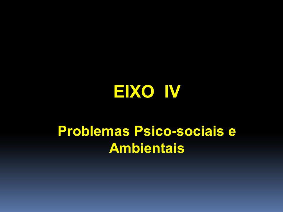 Problemas Psico-sociais e Ambientais