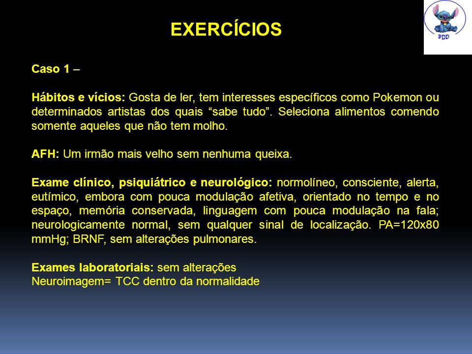 EXERCÍCIOS Caso 1 –