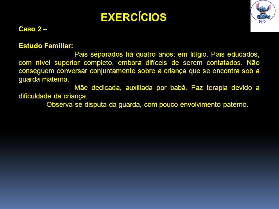 EXERCÍCIOS Caso 2 – Estudo Familiar: