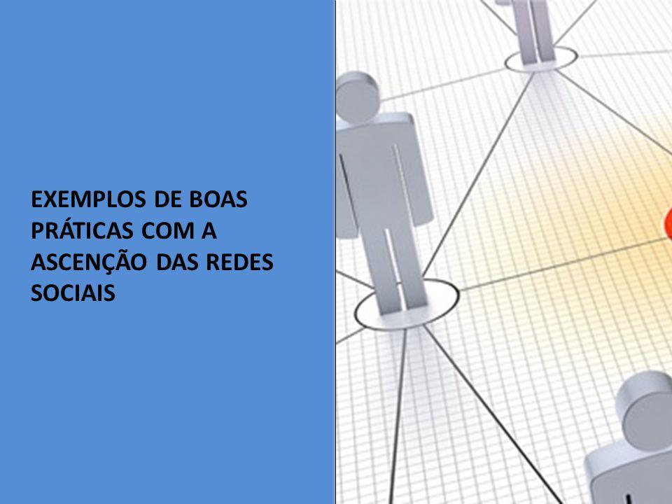 EXEMPLOS DE BOAS PRÁTICAS COM A ASCENÇÃO DAS REDES SOCIAIS