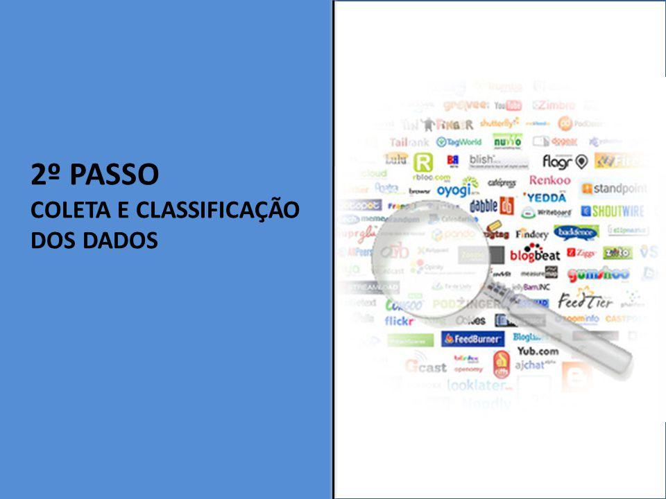 2º PASSO Coleta e Classificação dos dados