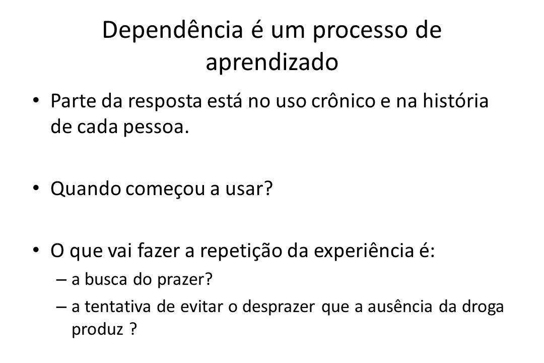 Dependência é um processo de aprendizado