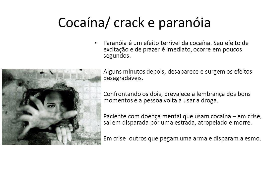 Cocaína/ crack e paranóia