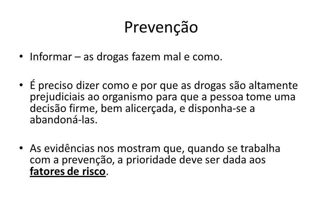 Prevenção Informar – as drogas fazem mal e como.
