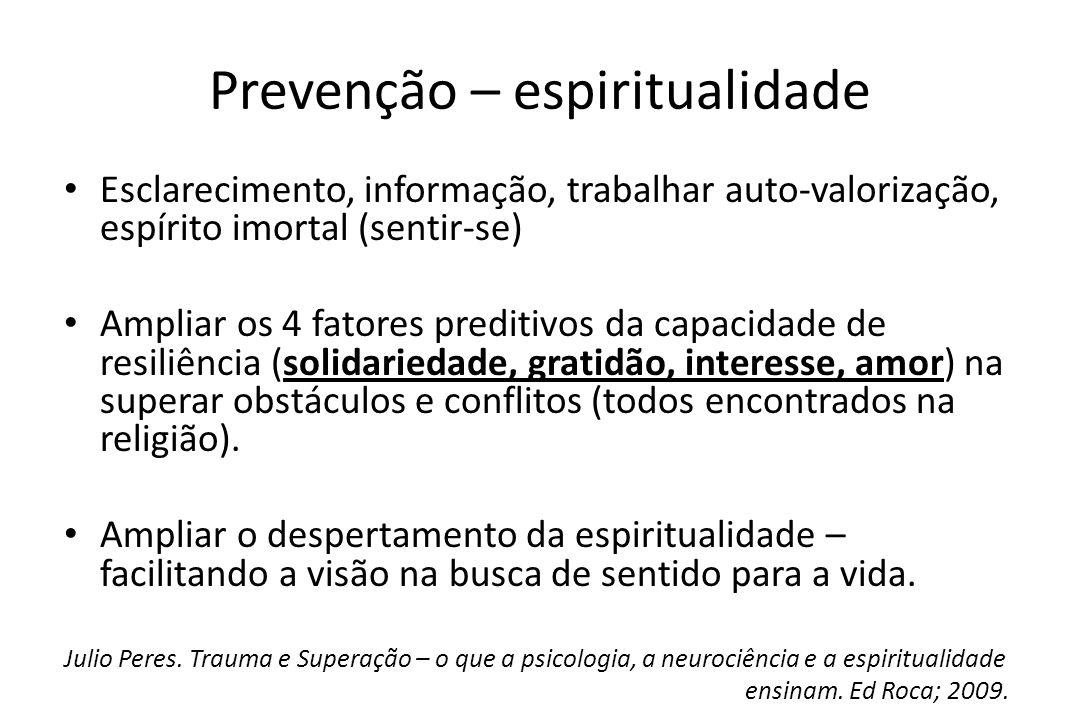 Prevenção – espiritualidade