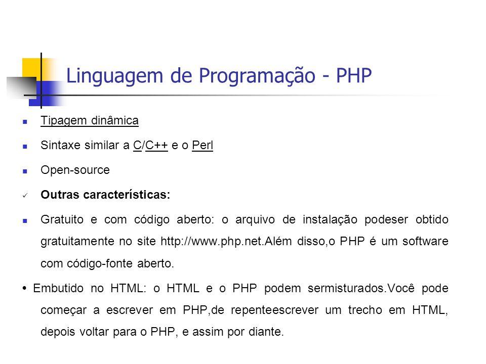 Linguagem de Programação - PHP