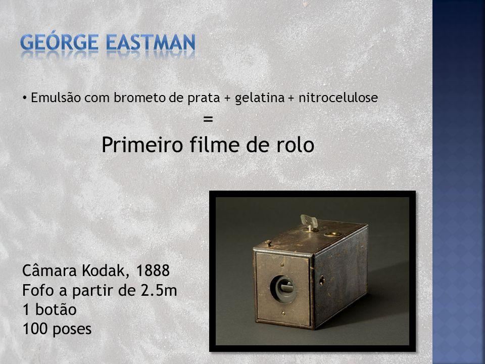 = Primeiro filme de rolo GEÓRGE EASTMAN Câmara Kodak, 1888