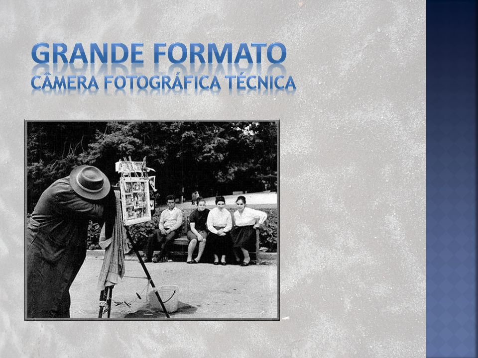 GRANDE FORMATO Câmera fotográfica técnica
