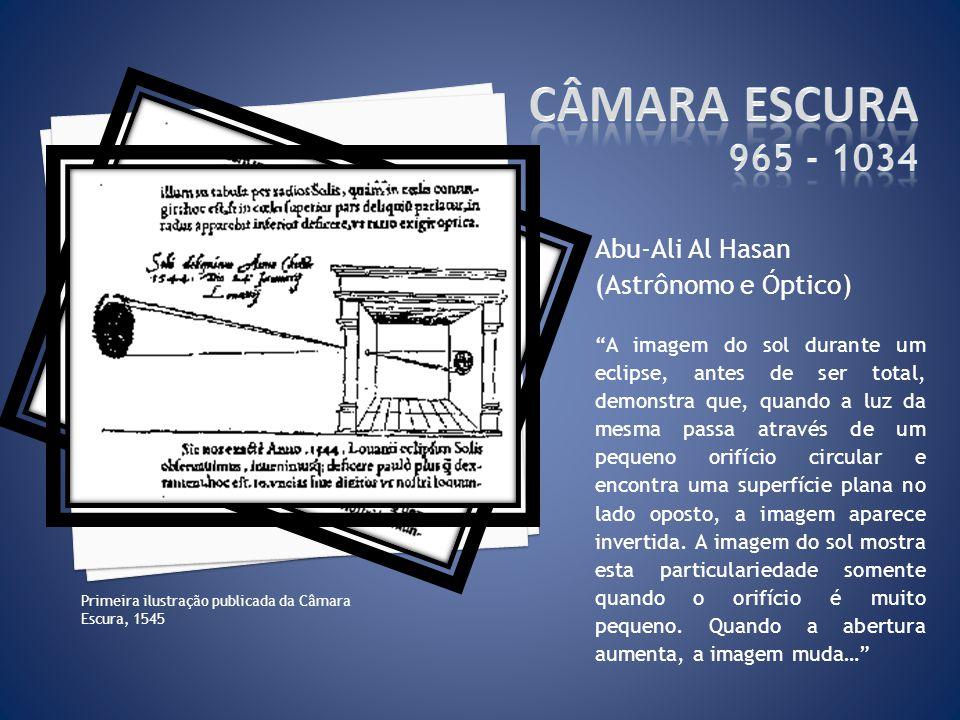 Câmara Escura 965 - 1034 Abu-Ali Al Hasan (Astrônomo e Óptico)