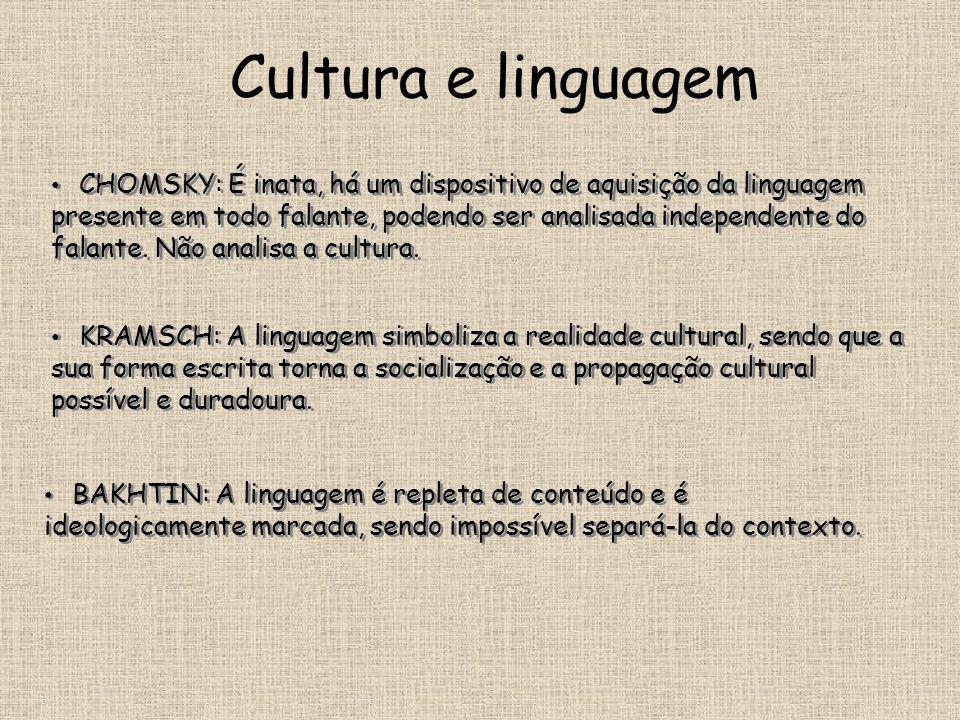 Cultura e linguagem