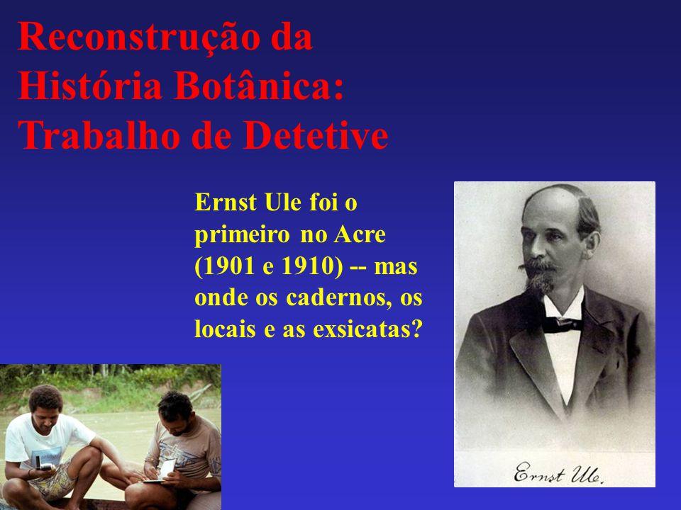 Reconstrução da História Botânica: Trabalho de Detetive