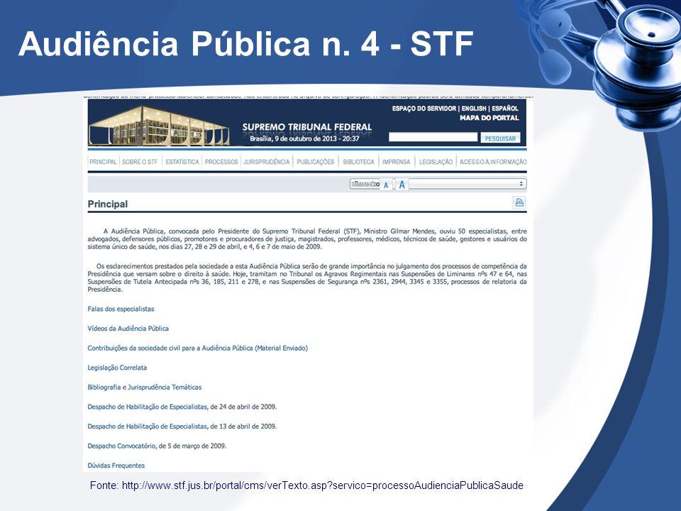 Audiência Pública n. 4 - STF