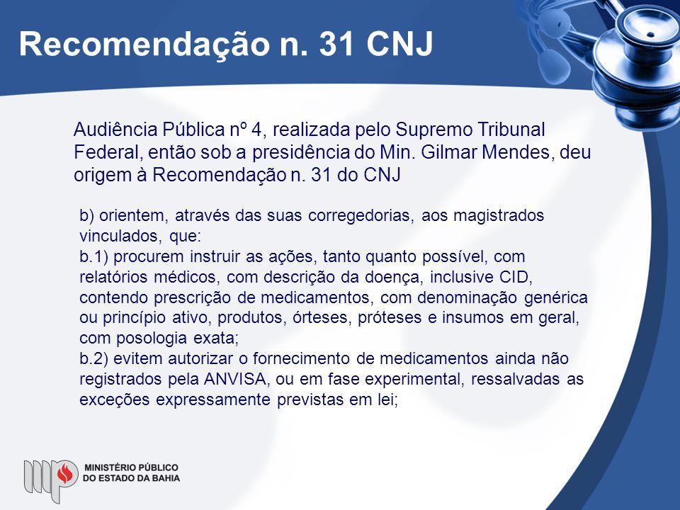 Recomendação n. 31 CNJ