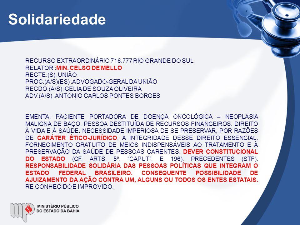 Solidariedade RECURSO EXTRAORDINÁRIO 716.777 RIO GRANDE DO SUL