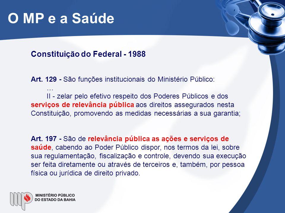 O MP e a Saúde Constituição do Federal - 1988