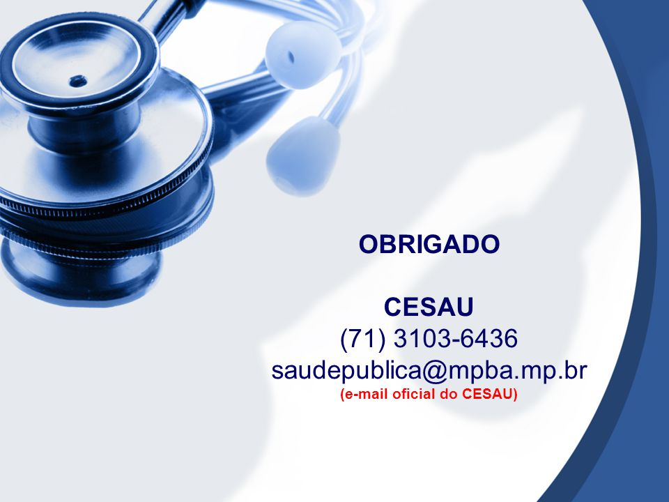 (e-mail oficial do CESAU)
