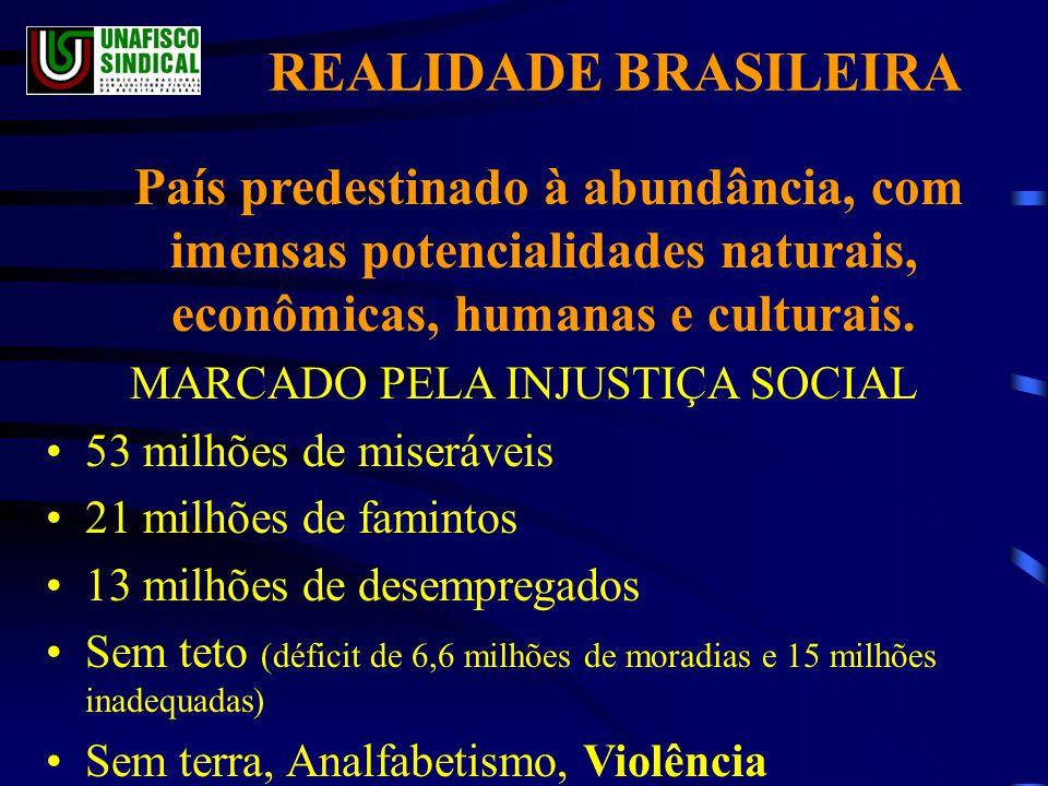 MARCADO PELA INJUSTIÇA SOCIAL