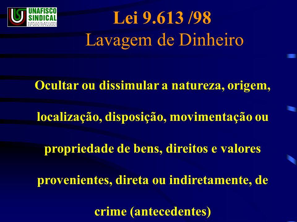 Lei 9.613 /98 Lavagem de Dinheiro