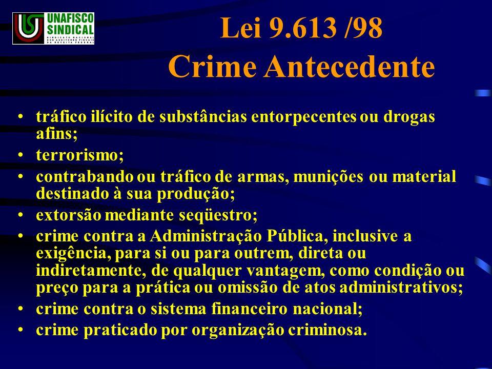 Lei 9.613 /98 Crime Antecedente