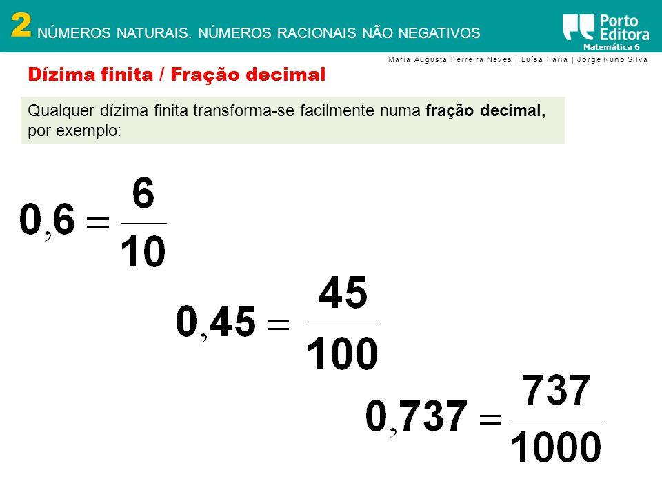 Dízima finita / Fração decimal