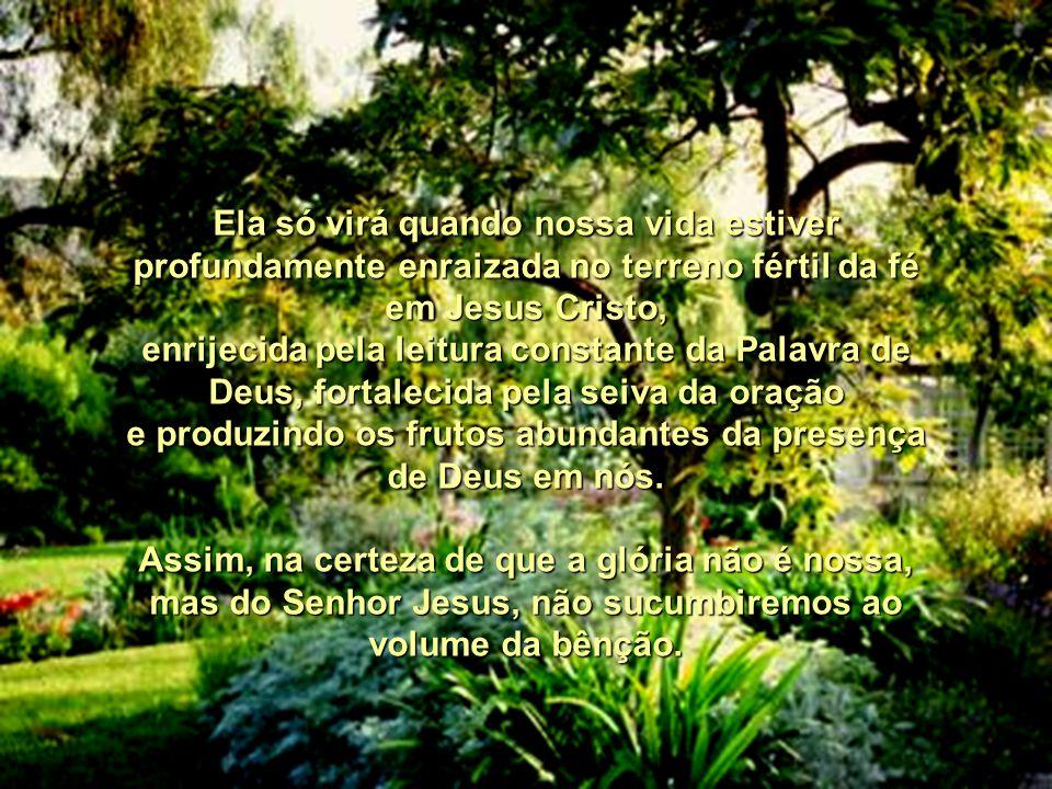e produzindo os frutos abundantes da presença de Deus em nós.
