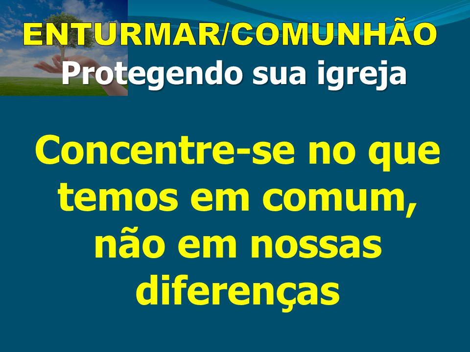 Concentre-se no que temos em comum, não em nossas diferenças