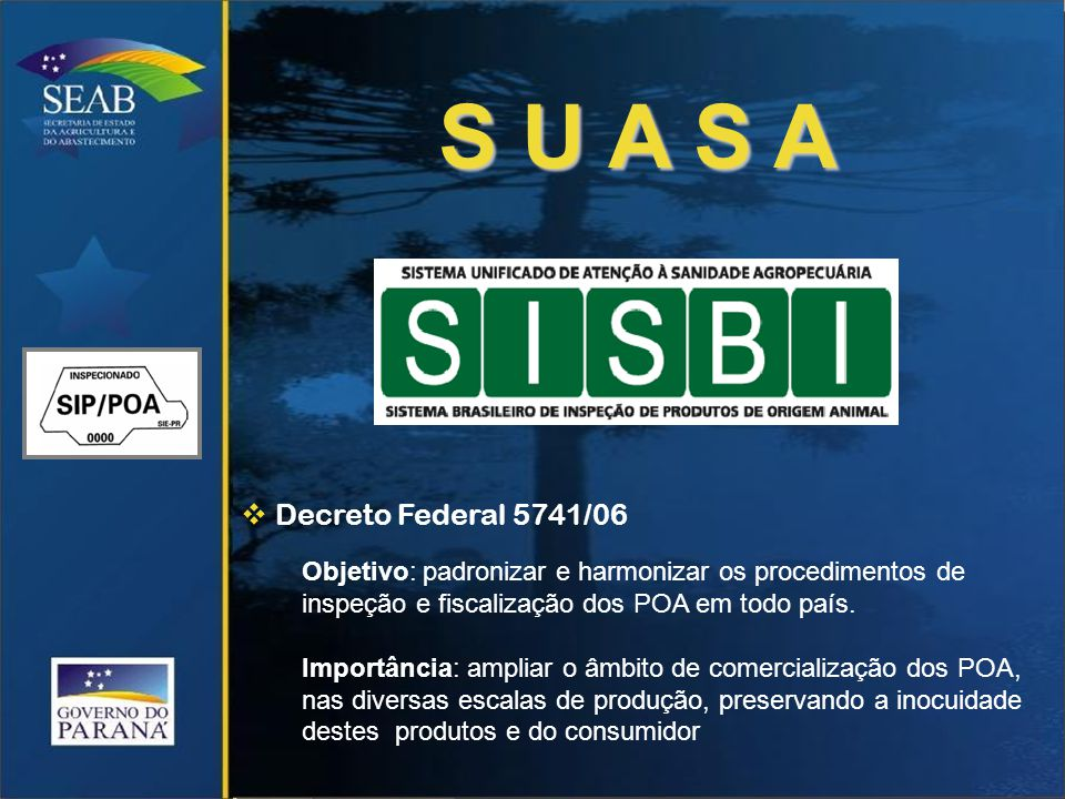 S U A S A Decreto Federal 5741/06