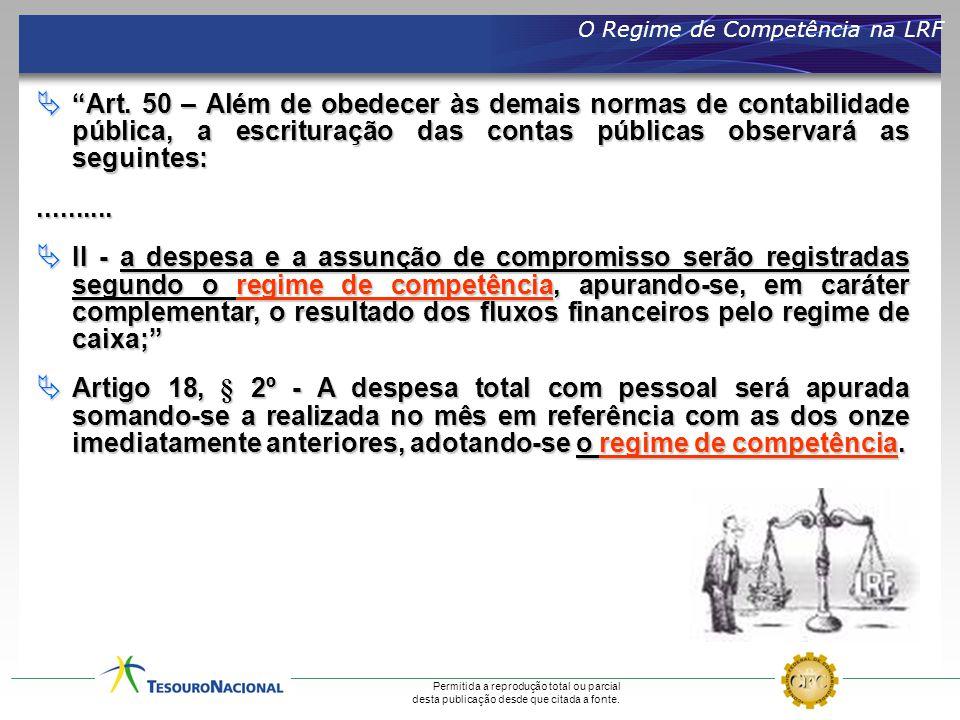 O Regime de Competência na LRF