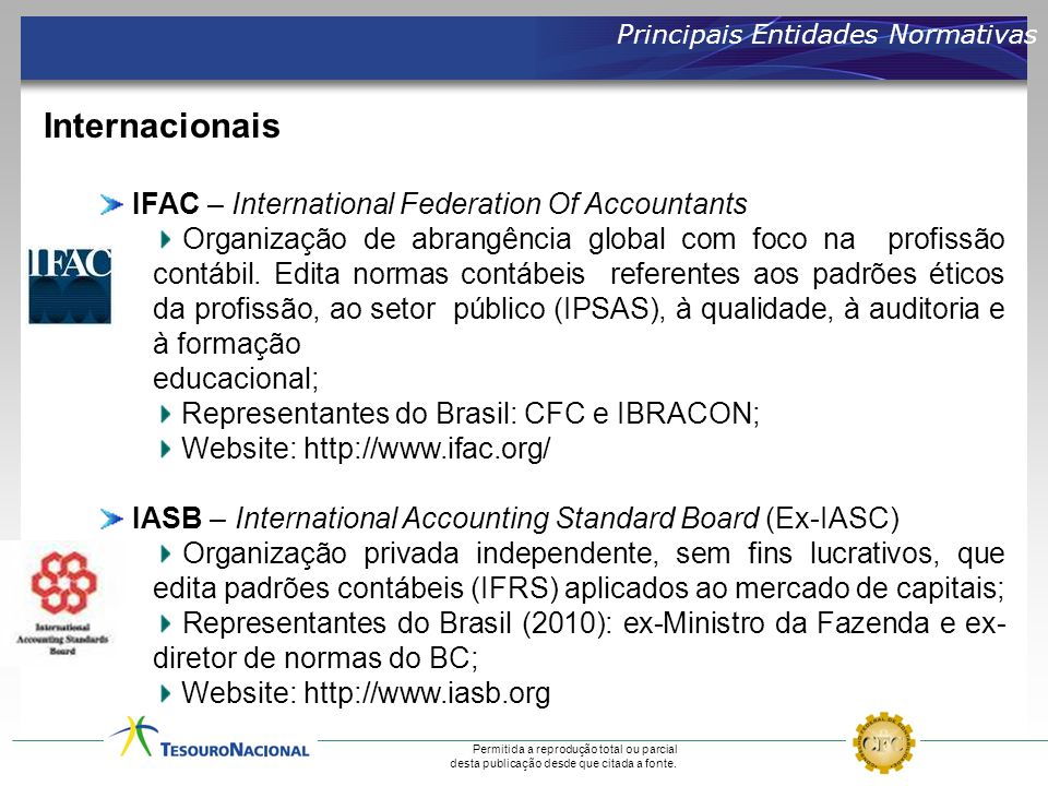 Internacionais IFAC – International Federation Of Accountants