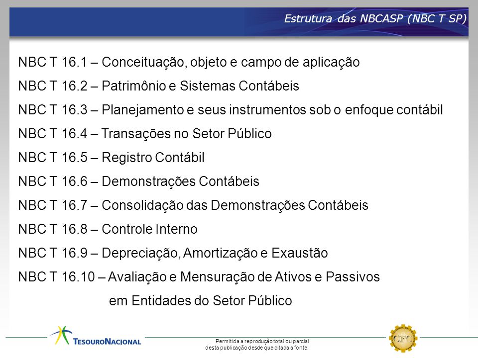 NBC T 16.1 – Conceituação, objeto e campo de aplicação
