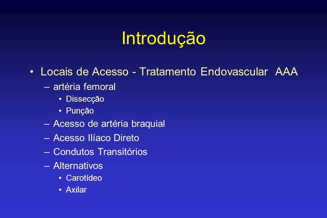 Introdução Locais de Acesso - Tratamento Endovascular AAA