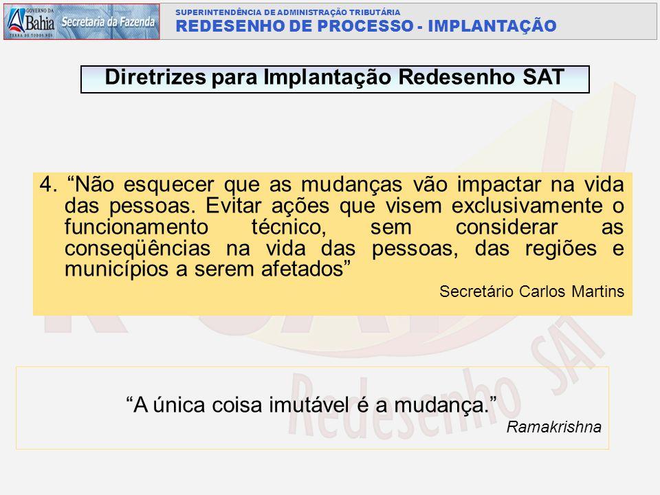Diretrizes para Implantação Redesenho SAT